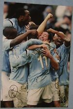 Kiki Musampa, Darius Vassell And Trevor Sinclair signed photo (Man City)