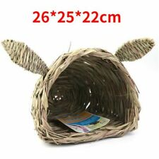 Rabbit Shaped Head Straw Nest Totoro Guinea Pig Hedgehog Mat Small Pet House