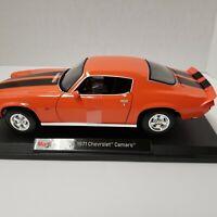 Maisto 1971 Chevrolet Camaro Orange 1:18 Special Edition Diecast Car. Sealed