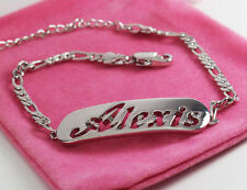 Nome Braccialetto Alexis 18ct Bianco Oro Placcato tono argento amore gioielli regali lei