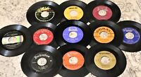 """Big Lot of 25 Vinyl 7"""" Records FOR CRAFTS 45rpm JukeBox Discs 45s CRAFTING 45's"""