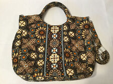 Vera Bradley Purse Shoulder Bag Brown Flower Multi Authentic Fast Shipping World