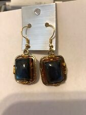 New Tara Mesa Labradorite Embellished Rectangle Earrings