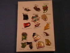 16 Pinbacks + State of Tennessee Confederate States America Hat Lapel Tack Pin