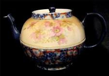Wedgwood Teapot Red & Floral decorated Teapot and Cover marked 'Briar' C19th