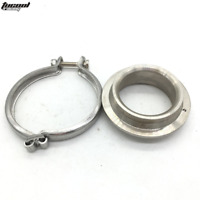 60mm EXTERNAL V BAND WASTEGATE WELD FITTING FLANGE + CLAMP 11778 Stainless Steel