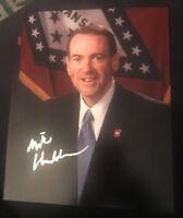 MIKE HUCKABEE SIGNED 8X10 PHOTO PRESIDENT TRUMP W/COA+PROOF RARE WOW