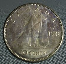 1968 Canada dime - these 10 cent coins are 50% Silver non-magnetic