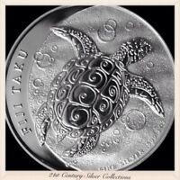 2012 Fiji Taku Sea Turtle 1 Oz Silver $2 Coin