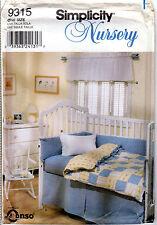 "2000 UNCUT Simplicity Nursery Sewing Pattern # 9315 ""Shabby Chic Nursery"" Decor"