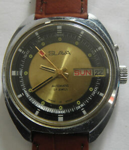 WATCH SLAVA-27jew--AUTOMATIC USSR WRIST WATCH MEN,S