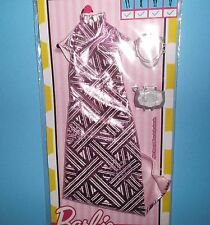 HOT PINK GEOMETRIC GOWN*PURSE PLUS*GREAT PIECES*BARBIE*SILKSTONE*FR*2016*