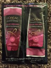 L'Oreal Color Vibrancy Shampoo & Conditioner Sample Pack Set .34 Fl Oz Each New!