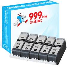 Compatible Pigment Black Printer Ink Cartridges Replace Canon PGI-520 - 5 Pack