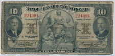 BANQUE CANADIENNE NATIONALE 10 DOLLARS 1935 224994 - VG
