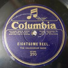"""12"""" 78rpm THE CALEDONIAN BAND eightsome reel / foursome reel - columbia 270"""