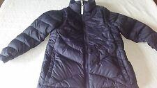 Lands End Boys Down Puffer Lightweight Coat Vest M 5/6 Navy Blue Convertible