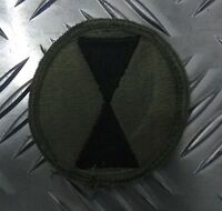 Genuine US ARMY 7th Infantry Divison Embroidered Insignia Sew on Badge APOR01A