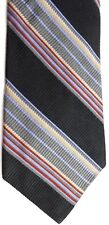 "Hart Shaffner Marx Men' Silk Tie 58.5"" X 3.75"" Multi-Color American Stripes"