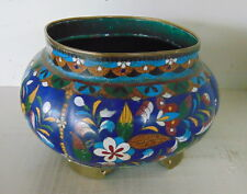 A beautiful stunning antique Cloisonne Bowl planter - Signed on the bottom