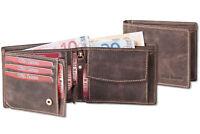 Wild Nature® Riegel - Geldbörse in Dunkelbraun aus naturbelassenem Wild Leder