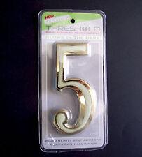 Self-adhesive House Door Number, Luminous 'Glow In The Dark', numeral, 4 in. 0-9