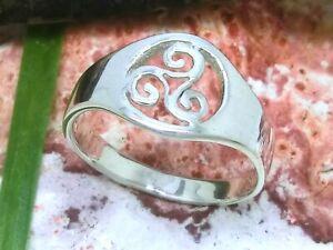 Triskele Sonnenrad 925 Sterling Silber Ring Größe 54 poliert Kelten