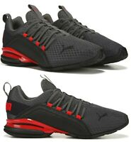 New PUMA Axelion athletic sneakers casual shoes Mens gray crimson all sizes