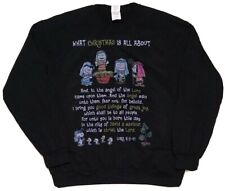 Charlie Brown Christmas Holiday Sweater Pullover Luke 2:9-11 Size Medium