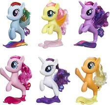 My Little Pony 6 Seapony Toys 6 Mermaid Ponies in 1 Set Sparkly Glitter Eyes New