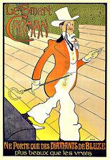 ART AD Le Smart Carman 1898 Menswear Bling Bling Deco Poster Print
