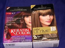 LOT OF 2 SCHWARZKOPF PROFESSIONAL QUALITY COLOR ~ COLOR ULTIME & KERATIN