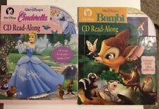 Disney Cinderella & Bambi Read-Along Library 24 Page Book Plus Audio CD