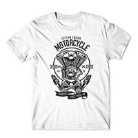 Custom Engine Motorcycle T-Shirt 100% Cotton Premium Tee New