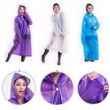 EVA Raincoat Translucent Adult Rain Coat Waterproof Poncho Long Sleeve Coat