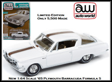 Auto World New '65 Plymouth Barracuda 1:64 Scale Diecast Car By Johnny Lightning