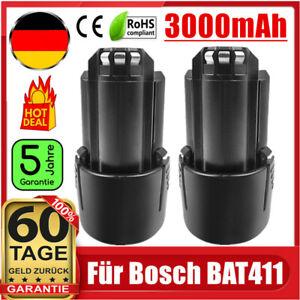 2x 3Ah 10.8V/ 12V Akku für Bosch BAT411 BAT412 GSR GDR GSB GSA GOP GWB 10.8-LI