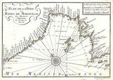 Antique map, Plan de la Baye et Rades de Marseille