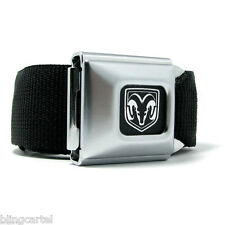 Dodge Ram Logo Official Licensed Seatbelt Authentic Seat Belt Black Buckle Down