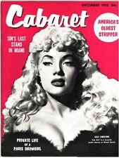 CABARET - Dec 1955 - vintage stag men's girlie magazine