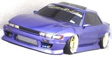 D-Like 1/10 RC NISSAN S13 SILVIA 198mm Clear Body Drift Hashiriya Pandora Yokomo