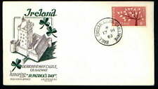 DERRYHIVENNY Castle St Patrick's Day Scarce Ireland Staehle Cachet FDC 1967 (IR7