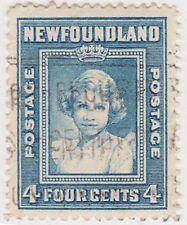 (T19-254) 1938 Newfoundland 4c green QEII (L)