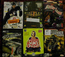 PC games Disciples II Heavy Gunner NHL 2002 NFS Most Wanted Rollercoaster Sims