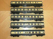 More details for rake / set of 5 br(w) chocolate / cream mainline coaches coach vgc 00 gauge oo