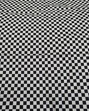 Small chequerboard squares black and white 100% cotton print fabric fat quarter