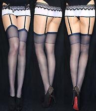Garter-tights Lycra 20 Den Super Smooth S-xl All Colours Shiny Black 12 . 14