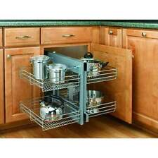 Rev-A-Shelf 5PSP-15 Chrome 5PSP Series Chrome Blind Corner Optimizer with Four