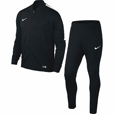 Boys Nike Football Sports Full Tracksuit Kids Junior Zip Bottoms Top XL Age 13-15 Black