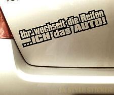 Reifenwechsel Aufkleber Winter Sticker Auto Winter ihr wechselt die reifen 108
